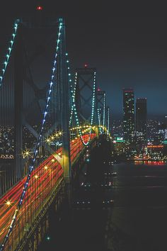 Bay Bridge into the City - by: Nate Vu
