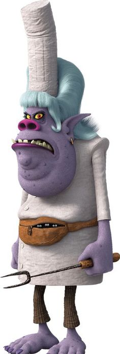 Chef is a villain Bergen from the upcoming Trolls. She is voiced by Christine…