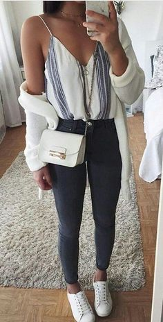 #fall #outfits women's white leather sling bag