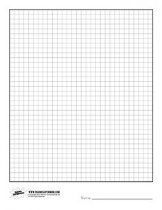 Printable Graph Paper | Paging Supermom  Grid Paper Template
