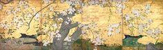 国宝 桜図壁貼付 長谷川久蔵筆 智積院(京都)