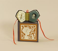 Elsa Mora. Miniature artist book and box. Title: Birdhouse for Things that Have Gone Away.