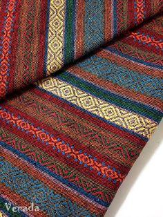 thai woven cotton fabric tribal fabric native fabric by the yard ethnic fabric aztec fabric craft supplies woven textile 1 2 yard Woven Fabric, Cotton Fabric, Woven Cotton, Homemade Gifts For Girlfriend, Homemade Teacher Gifts, Loom Weaving, Hand Weaving, Aztec Fabric, Rugs