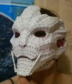 Mass Effect - Life Size Nyreen Kandros Mask Papercraft Free Template Download - http://www.papercraftsquare.com/mass-effect-life-size-nyreen-kandros-mask-papercraft-free-template-download.html