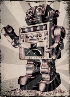 Immio  Robot Tattoo Ian Roger And Pint In Pixlr O Matic