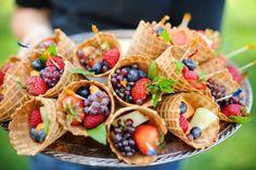 Fruit Cones Fruit Cones, Healthy Snacks, Waffles, Beverages, Dairy, Treats, Cheese, Breakfast, Food