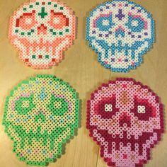 Sugar Skull Perler Bead 3 by WSquaredCreations