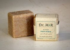 All Natural Foot Scrub Soap. Handmade from olive oil, coconut oil and Dead Sea sand. Designed to remove dead and hard skin layer. Soothes and softens your feet skin. Cures dry skin cracks.