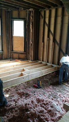 Living room getting new floor joist