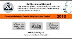 Convocatoria a los Premios Alejandro Ángel Escobar.