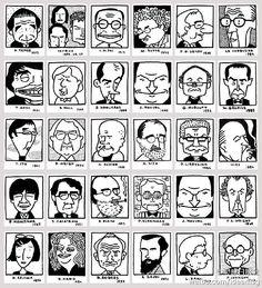 comic architecture - caricaturas de arquitectos (autor japonés?)