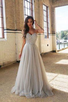 2018 Prom Dresses #2018PromDresses, Prom Dresses A-Line #PromDressesALine, Cheap Prom Dresses #CheapPromDresses