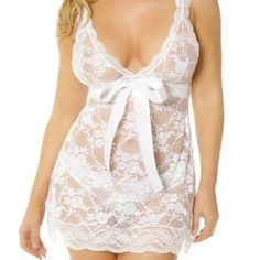 Love the bow accent on this honeymoon lingerie set.