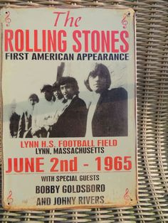 The Rolling Stones Concert - First American Appearance - Metal memorial Schield