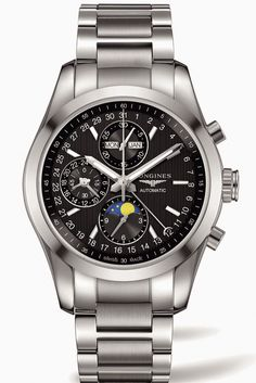 Longines Conquest Classic Moon phase steel