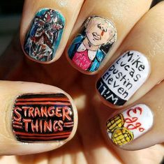 """Stranger Things"" Inspired Nail Art Ideas Will Make You Crave For More #nailart"