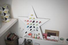 Le porte-bobines étoile  [Aménager son coin couture avec Lalouandco] - Gabarit à télécharger