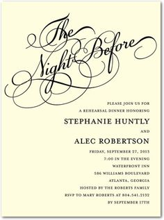 Dress Rehearsal Invitations with awesome invitation layout