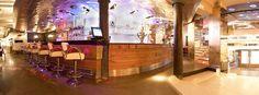Chic decor, extensive cocktail menu (+ food til 11:45pm). Open Sun - Thurs 8am - 2am, Fri&Sat til 4am. Cafe Restaurant, Bars And Clubs, Places To Eat, Liquor Cabinet, Cocktails, Menu, Restaurants, Home Decor, Night