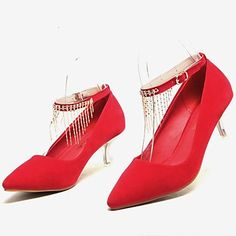 12a09c20d9cc05   34.99  Women s Shoes Pointed Toe Stiletto Heel Pumps with Tassel Wedding  Shoes More Colors available