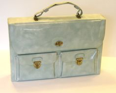 Vintage Women's Briefcase Patent Leather by AffordableAdornment, $35.00