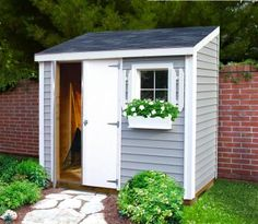 garden hutch garden storage garden shed sheds usa Backyard Sheds Small Garden, Shed Design, Shed Colours, Small Backyard, Small Sheds, Shed Makeover, Garden Storage, Storage Shed Plans, Backyard Storage