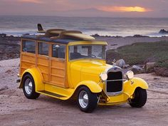 The Yellow Jallopy   Vintage Surf Cars