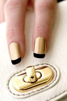 Dourado com francesinha preta