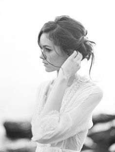 Low, soft and messy updo - naturally pretty!