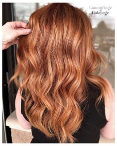 Don't you just ❤️️ this Copper with a soft Balayage to create believable dimension that created who just SWITCHED… Balayage Hair Copper, Soft Balayage, Hair Color Balayage, Hair Highlights, Copper Blonde Hair, Red Hair With Balayage, Red Hair With Lowlights, Copper Hair With Highlights, Peekaboo Highlights