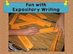 Expository Writing activity that is fun and engaging for students! It is student tested and teacher approved!  Right Down the Middle