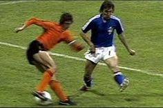 Cruyff executing his famous Cruyff Turn