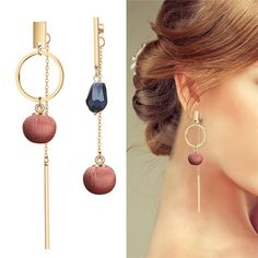 Fashion Long Tassel Dangle Drop Earrings For Women Unique Asymmetric Earrings Temperament Wedding Party Jewelry All About Fashion, Passion For Fashion, Fashion Prints, Minimalist Fashion, Trendy Fashion, Style Fashion, Women's Earrings, Fashion Jewelry, Fashion Clothes