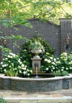 Lions Head fountain on Garden wall. Lions Head fountain on Garden wall. Hydrangea Landscaping, Front Yard Landscaping, Backyard Landscaping, Landscaping Ideas, Backyard Ideas, Landscaping Software, Modern Backyard, Landscaping Borders, Landscaping Contractors
