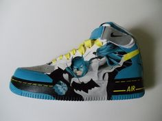 Custom Painted Batman Shoes - (Nike Air Force Ones). $160.00