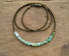 simple gemstone necklace - Google Search