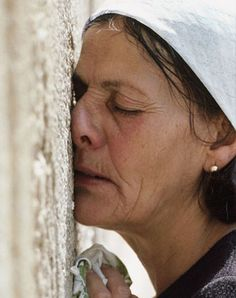 The Wailing Wall, one of the most emotionally moving pictures of an individual Ive ever seen. I am blown away by her beauty, desire, commitment, consecrasion, and Love for her God. She inspires me to love, live and honor my faith more.