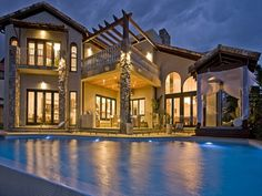 Tuscan Style Homes | Modern architecture tuscan style house with swimming pool
