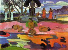 Paul Gauguin, IL GIORNO DEL SIGNORE, 1894, 68 cm x 92 cm, Colore ad olio, Art Institute of Chicago