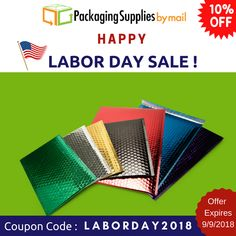 #LaborDay #Sale ‼️ Come Early and Save Big 🎁 🎁 🛍️Use coupon: LABORDAY2018 🛍️ Offer Expires 9/9/2018 ⬅️⬅️⬅️ Shop Now: https://www.packagingsuppliesbymail.com/ #LaborDay #LaborDayWeekend #Sale #FreeShipping #Coupon #Discount #Onlineshopping #Onlinecoupons #Packaging #Shipping #Industrial #Medical #Coupon