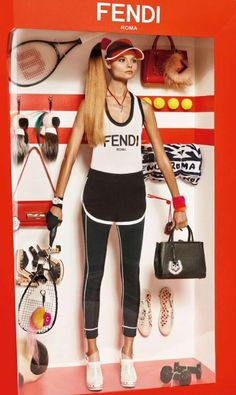 Magdalena Frackowiak in Moschino, Gucci, Fendi and Miu Miu for Vogue France December 2014/January 2015.
