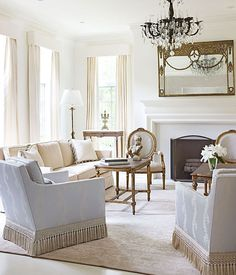 ~ beautiful fringe on chairs!