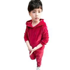 >> Click to Buy << Baby Boys Clothing Set Infant Boy Clothes Autumn Sport Suits Winter 2017 New Velvet Hoodie Trousers Two Pieces Baby Girl Outfit #Affiliate