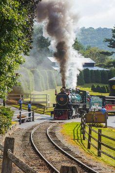 The main trail at the Tweetsie Railroad outside of Boone, NC: