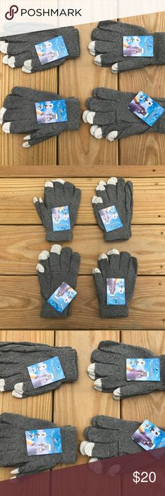 Wholesale Lot of 4 Gloves Touchscreen Winter Wholesale Lot of 4 Gloves Touchscreen Winter Acrylic Gloves One Size Fit All  4 Pair of Gloves in a lot  Brand New  Touchscreen Warm Outdoor Magic Knitted Gloves  Color: Gray  Product Description:  Feel the warmth right at your fingertips.  The Magic Touch Gloves features a soft knit body with color-blocked detail. Mainly  adopt the high-quality Acrylic, it makes this glove more durable, comfortable and warm.  This pair of glove is delicately…