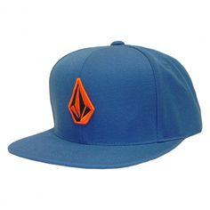 Volcom Turquoise and Orange Snapback Hat