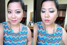 Face of the day - blue and green makeup