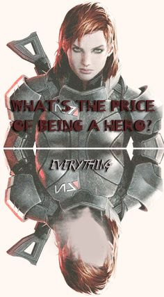 What's the price of being a hero? Everything. #masseffect #shepard
