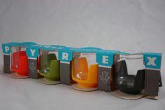 vintage Pyrex mugs