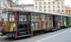 Library tram in Brno, Czech Republic -  Information Sciences: Librarianship and archival | Library of MPT / RN